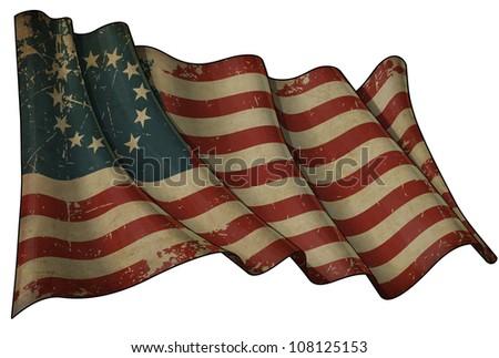 USA Betsy Ross Historic Flag