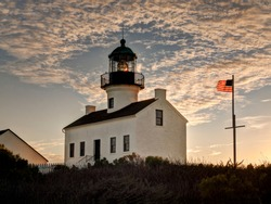 USA, California, San Diego. Old Point Loma Lighthouse at Cabrillo National Monument