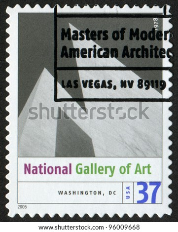 USA - CIRCA 2005: A postage stamp printed in USA shows the image of John Hancock Center (Chicago, IL). Modern American Architecture, circa 2005