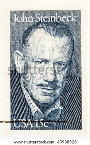 USA - CIRCA 1979: A stamp printed by USA shows John Steinbeck American Author and Noble Laureate, circa 1979.