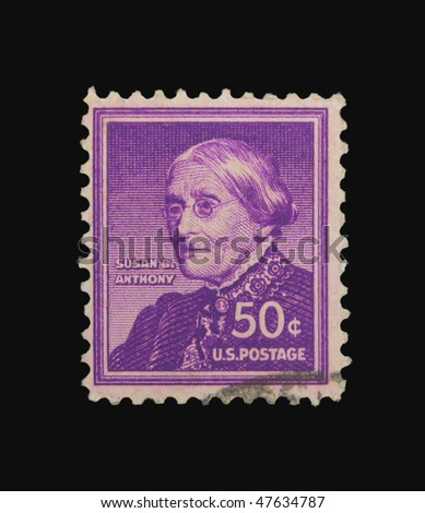 USA - CIRCA 1940: A stamp printed in the USA showing Susan B. Anthony circa 1940