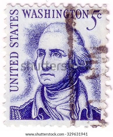 USA - CIRCA 1950: A stamp printed in the USA shows image portrait George Washington, circa 1950.