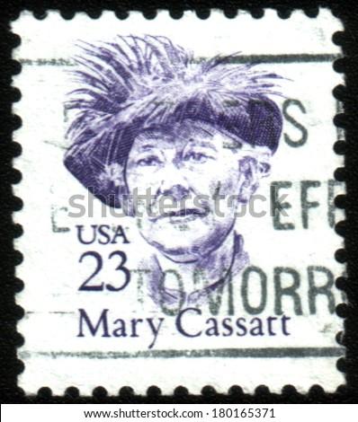 USA - CIRCA 1988: A stamp printed in the USA, shows Mary Stevenson Cassatt, circa 1988