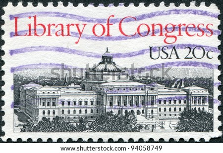 USA - CIRCA 1982: A stamp printed in the USA, shows the Library of Congress, circa 1982