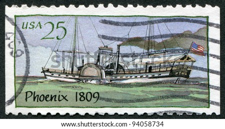 USA - CIRCA 1989: A stamp printed in the USA, shows the steamer Phoenix, circa 1989