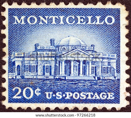 usa   circa 1954  a stamp...