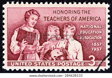 USA - CIRCA 1957: A stamp printed in USA from the \