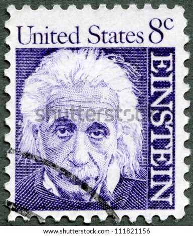 USA CIRCA 1966 A stamp printed in USA shows Albert Einstein 1879-1955 physicist circa 1966