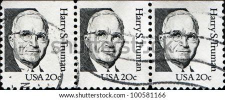 USA - CIRCA 1984: A stamp printed in USA shows Harry S. Truman, circa 1984