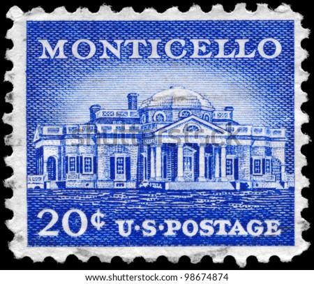 usa   circa 1956  a stamp...