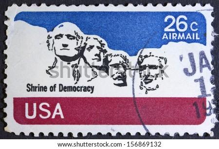 usa circa 1974  a stamp printed ...