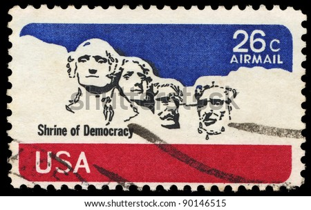 usa circa 1974  a stamp printed ...