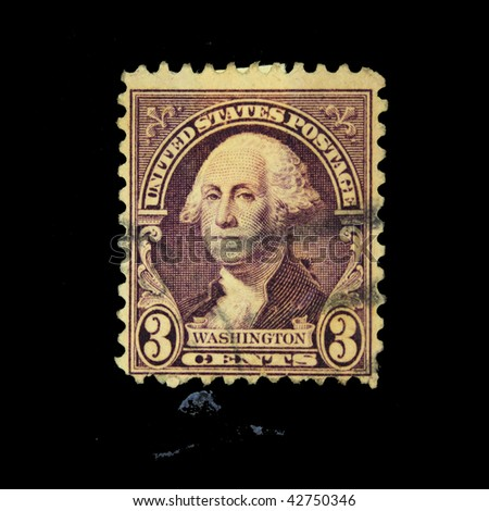 USA - CIRCA 1900s: A stamp printed in USA shows President George Washington, circa 1900s