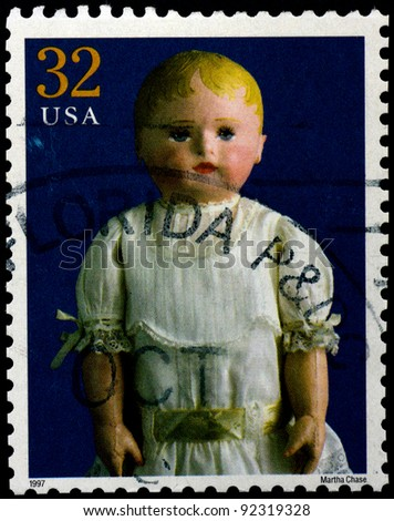 USA - CIRCA 1997 : Stamp printed in the USA shows Martha Chase doll, circa 1997