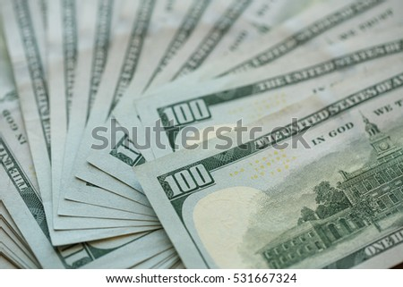 USA dollar money USA dollar money banknotes background, wealth concept
