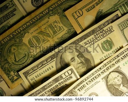 USA dollars. Finance concept.
