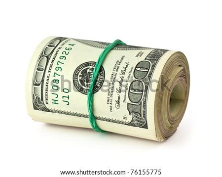 USA dollars on white background