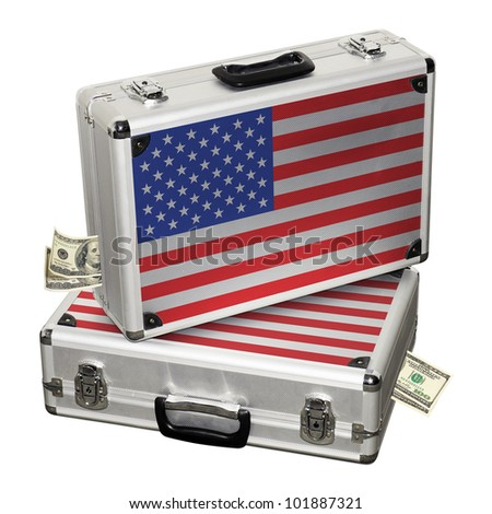 USA financial crisis. Financial assistance. - stock photo