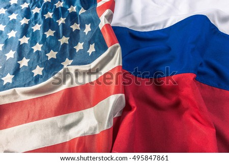 Usa flag and Russia flag #495847861
