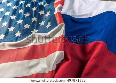 Usa flag and Russia flag #497871838