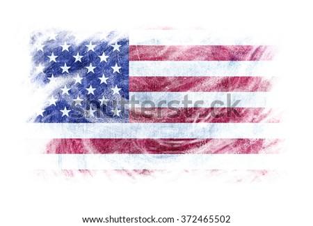 usa flag artistic effect...