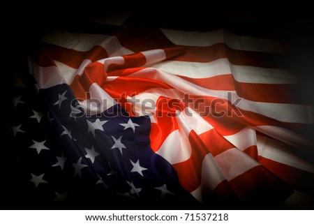 USA flag as dark background
