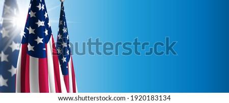 USA Flag Background, American Flag