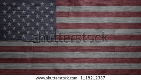 USA flag background. USA Independence Day banner background with USA flag. USA Independence Day Background. #1118212337