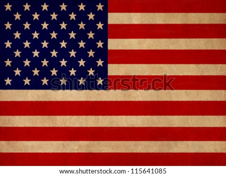 USA flag drawing ,grunge and retro flag series