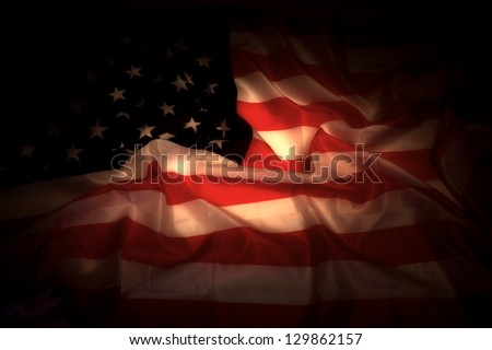 USA flag in the dark as very nice background