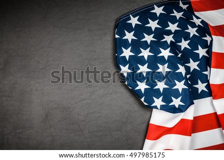 USA flag on grey background #497985175