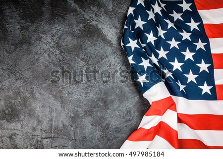 USA flag on grey background #497985184