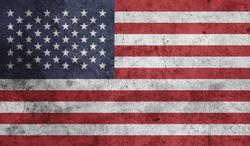 USA Flag on Grungy Texture.