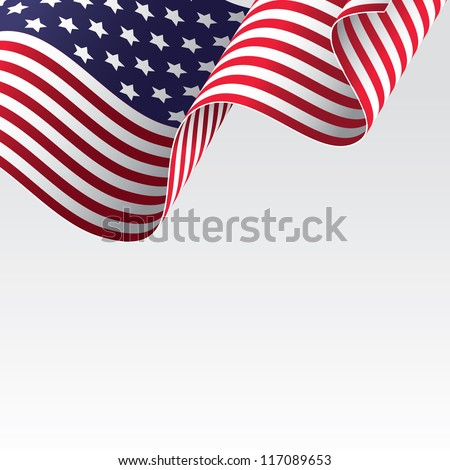 USA flag, raster version - vector version also available