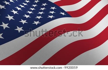 USA FLAG - very high detailed american flag - stock photo