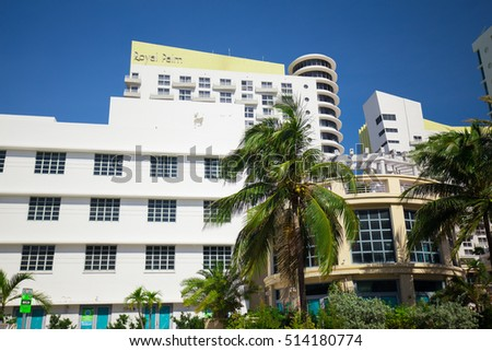 usa florida miami november 11 2016 renovated hotel in art deco