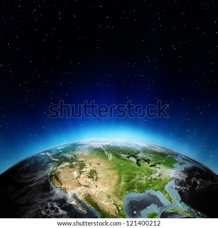 USA from space. Elements of this image furnished by NASA