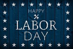 USA Labor Day banner background