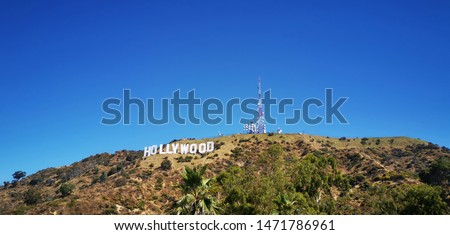 Photo of  USA, Los Angeles, Hollywood. Hollywood is a neighborhood in the central region of Los Angeles, California
