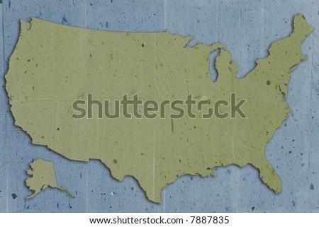 usa map vintage stone texture  looks like old