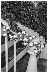 USA, Massachusetts, Nantucket Island. Nantucket Town, Christmas decorations.