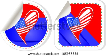 USA national and patriotic concepts for badge, sticker etc. Raster