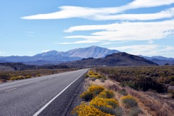 USA, Nevada, Austin. US Highway 50, Lincoln Highway, Loneliest Road in America.