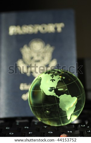 USA passport and the globe