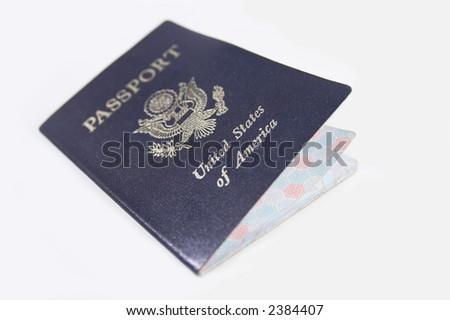 usa passport shallow DOF focus on america