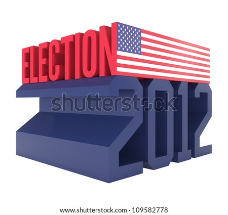 USA Presidential Election 2012 Icon - 3d illustration