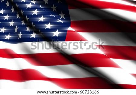 USA render flag