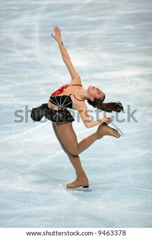 USA's Ashley Wagner performs during the ladies free skating event of the Eric Bompard trophy.  This is Ashley's season 2007/2008 free program.
