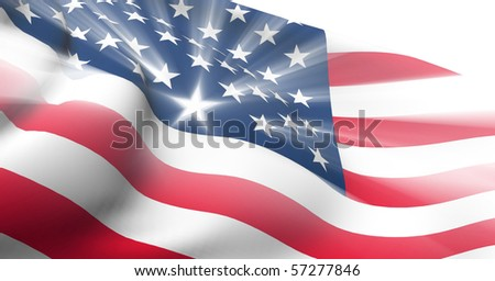 USA shiny flag