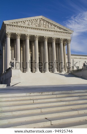 USA Supreme Court building in Washington, DC, United States